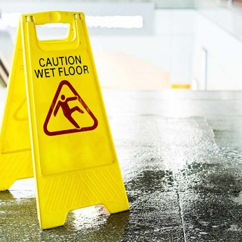 Washroom Deep Cleaning - Caution Sign | Carlton Cleaning UK Ltd